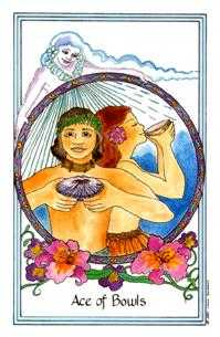 Ace of Bowls Tarot Card - Medicine Woman Tarot Deck