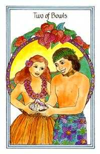 Two of Bowls Tarot Card - Medicine Woman Tarot Deck