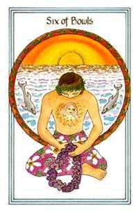 Six of Bowls Tarot Card - Medicine Woman Tarot Deck