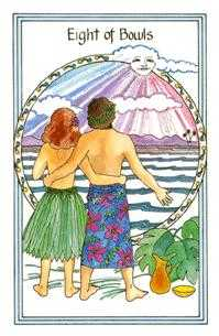 Eight of Water Tarot Card - Medicine Woman Tarot Deck
