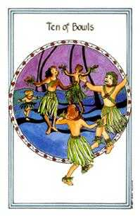 Ten of Bowls Tarot Card - Medicine Woman Tarot Deck