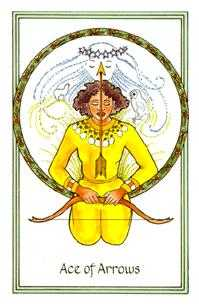 Ace of Arrows Tarot Card - Medicine Woman Tarot Deck