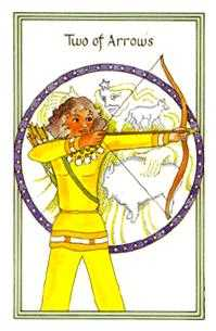 Two of Arrows Tarot Card - Medicine Woman Tarot Deck