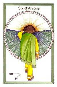 Six of Arrows Tarot Card - Medicine Woman Tarot Deck