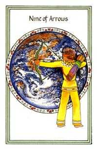 Nine of Wind Tarot Card - Medicine Woman Tarot Deck