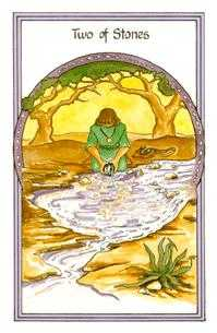 Two of Stones Tarot Card - Medicine Woman Tarot Deck