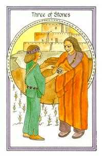 Three of Discs Tarot Card - Medicine Woman Tarot Deck
