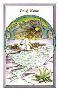 Six of Stones Tarot Card - Medicine Woman Tarot Deck