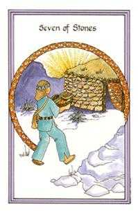 Seven of Coins Tarot Card - Medicine Woman Tarot Deck