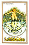 The Hanged Man Tarot card in Medicine Woman deck