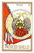 The Tower Tarot card in Medicine Woman Tarot deck