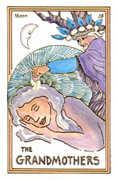 The Moon Tarot card in Medicine Woman deck
