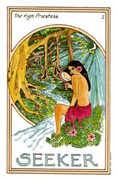The High Priestess Tarot card in Medicine Woman deck