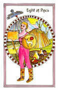 Eight of Pipes Tarot card in Medicine Woman deck