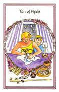 Ten of Pipes Tarot card in Medicine Woman deck