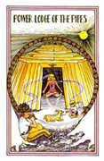 Queen of Pipes Tarot card in Medicine Woman deck