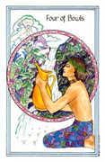 Four of Bowls Tarot card in Medicine Woman Tarot deck