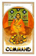 The Emperor Tarot card in Medicine Woman deck