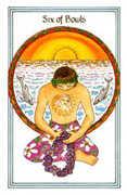 Six of Bowls Tarot card in Medicine Woman Tarot deck