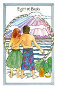 Eight of Bowls Tarot card in Medicine Woman Tarot deck