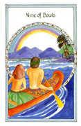 Nine of Bowls Tarot card in Medicine Woman deck
