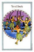 Ten of Bowls Tarot card in Medicine Woman deck