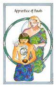 Apprentice of Bowls Tarot card in Medicine Woman deck