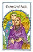 Exemplar of Bowls Tarot card in Medicine Woman Tarot deck