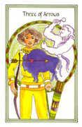Three of Arrows Tarot card in Medicine Woman Tarot deck