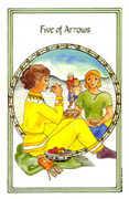 Five of Arrows Tarot card in Medicine Woman deck