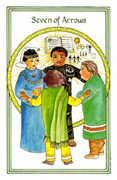 Seven of Arrows Tarot card in Medicine Woman deck