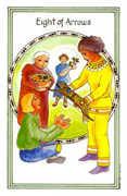 Eight of Arrows Tarot card in Medicine Woman deck