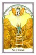 Ace of Stones Tarot card in Medicine Woman deck