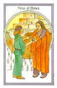 Three of Stones Tarot card in Medicine Woman deck