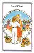 Five of Stones Tarot card in Medicine Woman deck