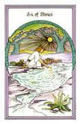 Six of Stones Tarot card in Medicine Woman deck