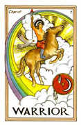 The Chariot Tarot card in Medicine Woman deck