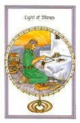 Eight of Stones Tarot card in Medicine Woman deck