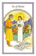 Ten of Stones Tarot card in Medicine Woman deck