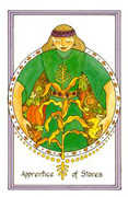 Apprentice of Stones Tarot card in Medicine Woman deck