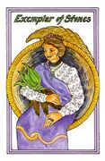 Exemplar of Stones Tarot card in Medicine Woman deck