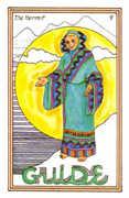 The Hermit Tarot card in Medicine Woman deck