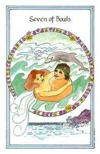 Seven of Bowls Tarot Card - Medicine Woman Tarot Deck
