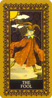 The Foolish Man Tarot Card - Medieval Cat Tarot Deck