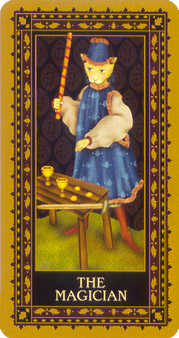 The Magician Tarot Card - Medieval Cat Tarot Deck