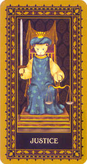 Justice Tarot Card - Medieval Cat Tarot Deck