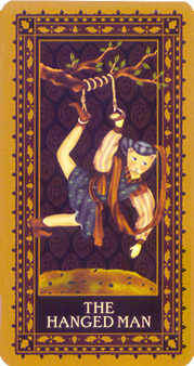 The Hanged Man Tarot Card - Medieval Cat Tarot Deck