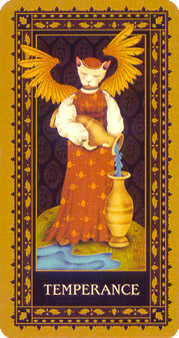 Temperance Tarot Card - Medieval Cat Tarot Deck