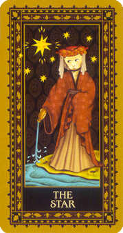 The Star Tarot Card - Medieval Cat Tarot Deck