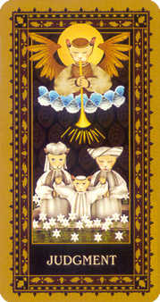 The Judgment Tarot Card - Medieval Cat Tarot Deck